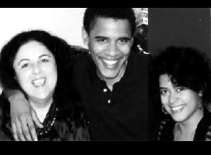 Obama, mother, sister